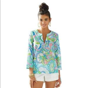 NWOT Lilly Pulitzer Amelia Tunic XL Conch Republic